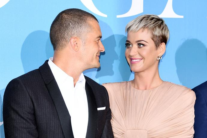 **Orlando Bloom and Katy Perry** <br><br> In a bombshell reveal, Perry announced she and the former *Lord of the Rings* star were engaged, sharing a snapshot of her stunning vintage ruby diamond ring. He did well!