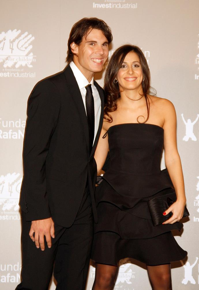 "**Rafael Nadal and Mery Perello** <br><br> In a moment that left many a heart broken across the globe, tennis superstar Rafael Nadal's engagement to long-time girlfriend Mery Perello [was revealed](https://www.nowtolove.com.au/celebrity/celeb-news/rafael-nadal-engaged-53857|target=""_blank"") in February. We'll just be over here sobbing and cheering simultaneously..."