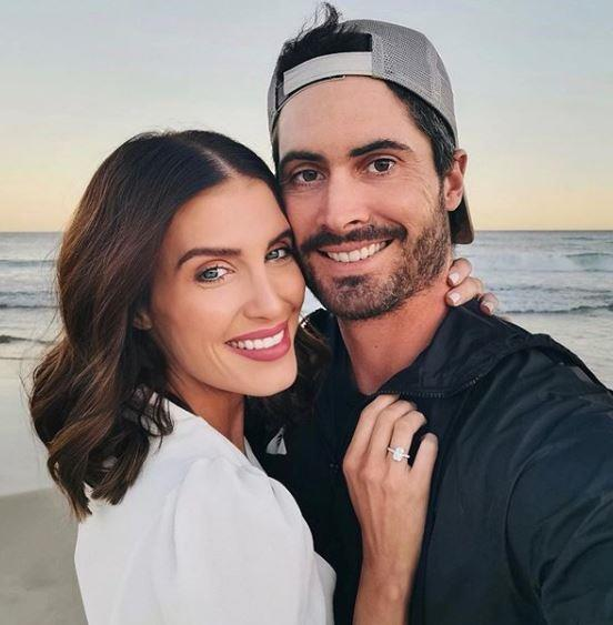**Erin Holland and Ben Cutting** <br><br> Stunning model Erin announced her engagement to big bash star Ben Cutting with a series of sweet beach snaps featuring the pair (and that sizeable rock) looking seriously loved up. Aww.