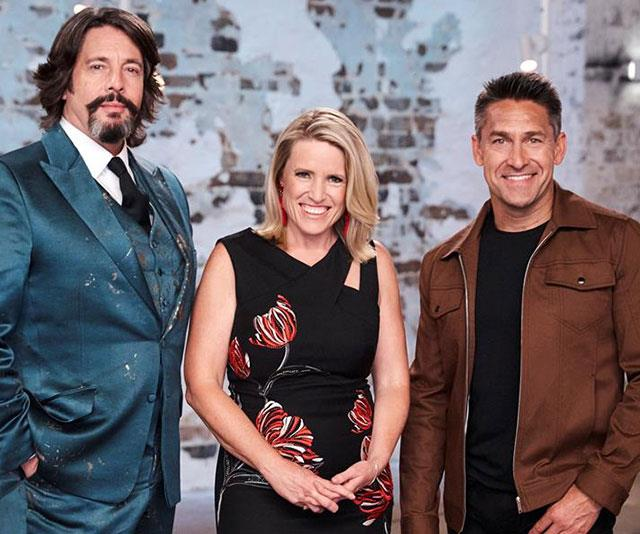 Joh thanked those she'd worked with including Laurence Llewelyn-Bowen (left) and Wendy Moore (centre) and Jamie Durie (right).