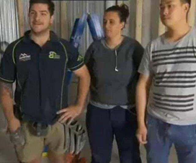 Tim (far left) starred on *The Block* in 2014.