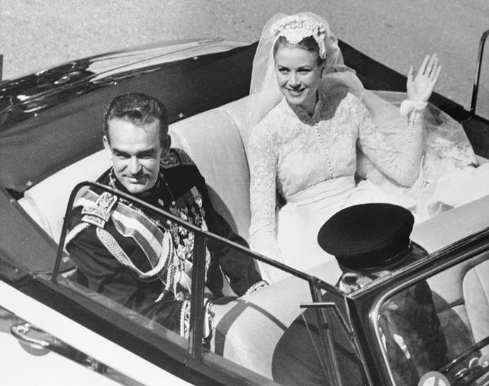 Grace Kelly's own wedding to Prince Rainier in 1956 was just as stylish.