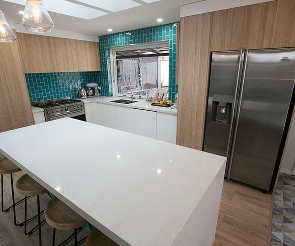 But that sleek new kitchen...bravo Mikaela and Eliza!