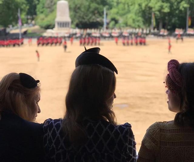 The ladies watched the procession from above.