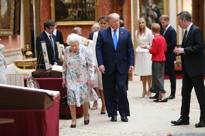 Donald Trump during his visit to Buckingham Palace with The Queen.