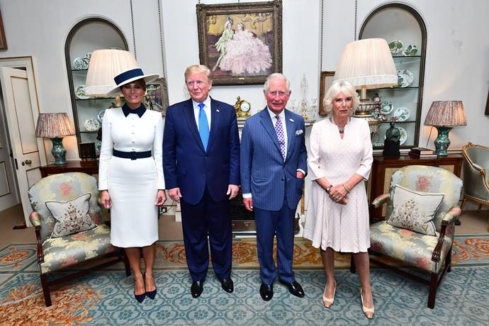 Trump was also hosted at Clarence House for a polite afternoon tea.
