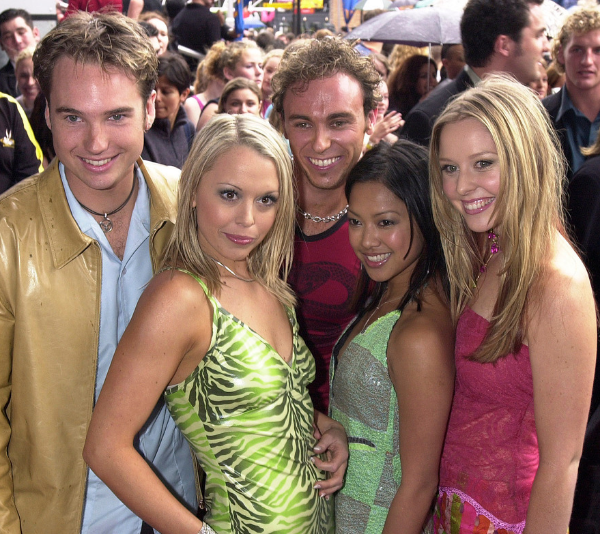 Nathan with his original cast-mates, Tim Harding, Kellie Crawford, Kathleen DeLeon and Charli Robinson.