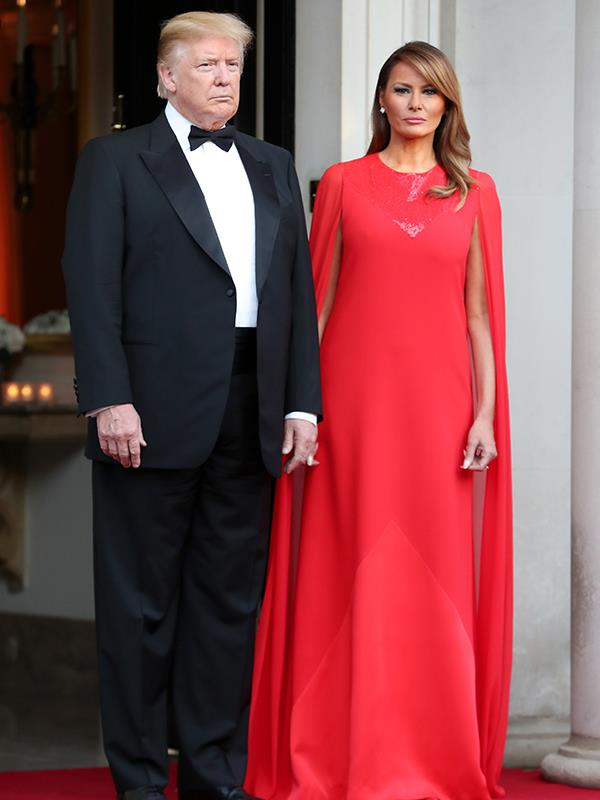 We are loving Melania Trump's red hot look!
