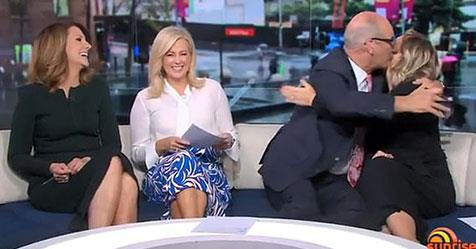 Kochie was shocked and delighted to hear his colleague's happy news.