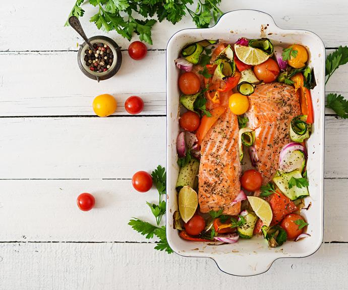 Oily fish like salmon is rich in vitamin D.