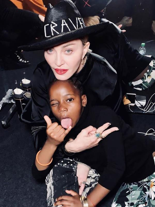 Madonna's kids are always in the back of her mind.