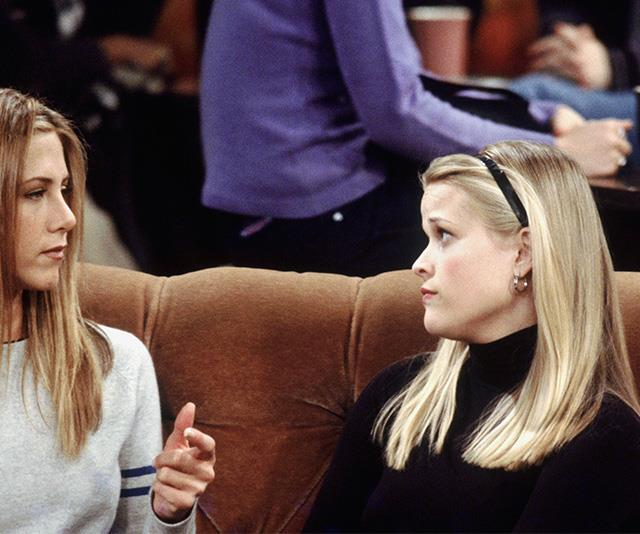 """Reese Witherspoon's cameo in *Friends* shall never be forgotten for two reasons: 1. It was Reese flipping Witherspoon, and 2. The [adult headband](https://www.nowtolove.com.au/fashion/fashion-trends/headband-trend-australia-55155