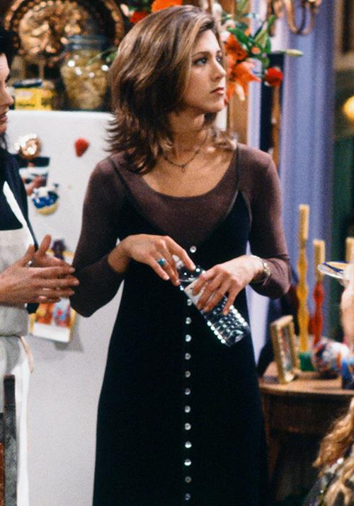 Rachel made the dress-over-a-long-sleeve-top a thing before it was even a thing.