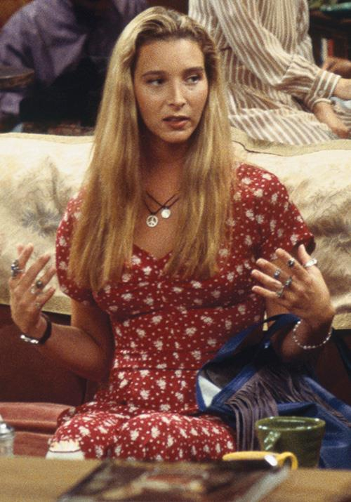 And Phoebe's printed dress is also a total vibe.