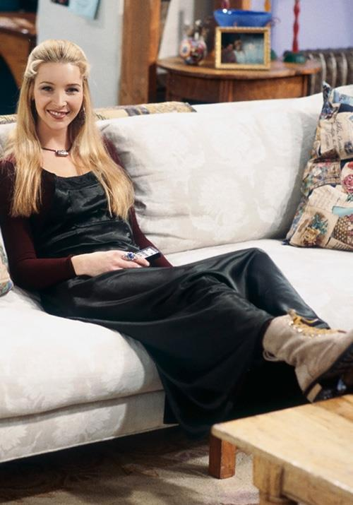 And Phoebe's silk slip dress and combat boot combo is all kinds of 2019 chic.