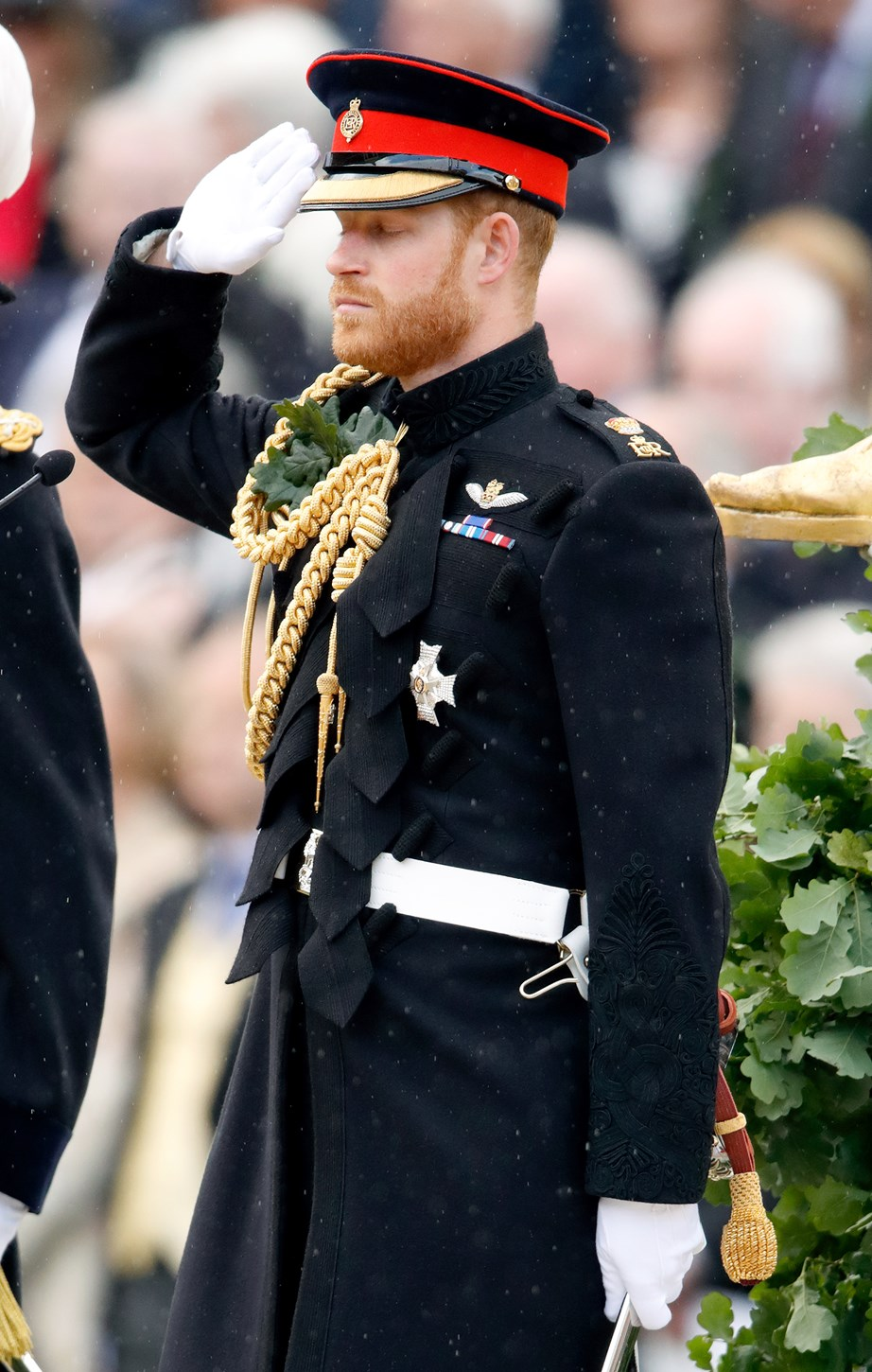 Harry's emotional speech was a beautiful tribute to war heroes. *(Image: Getty)*