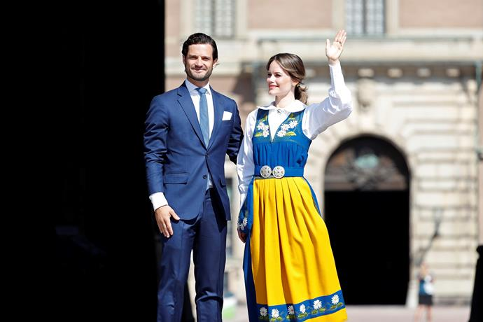 What a pair! Princess Sofia looked a vision next to husband Prince Carl Philip.