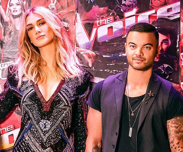 Too close for comfort? Delta Goodrem (left) and Guy have been speaking candidly about their brief romance on the show.