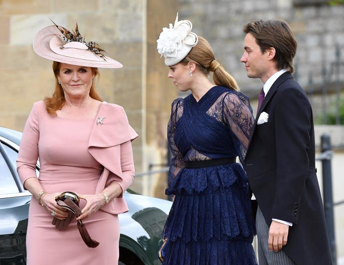Spot the tail! A ponytail that is - Princess Beatrice's stylish hairdo worn to Lady Gabriella Windsor's royal wedding in May 2019 was undeniably glam.