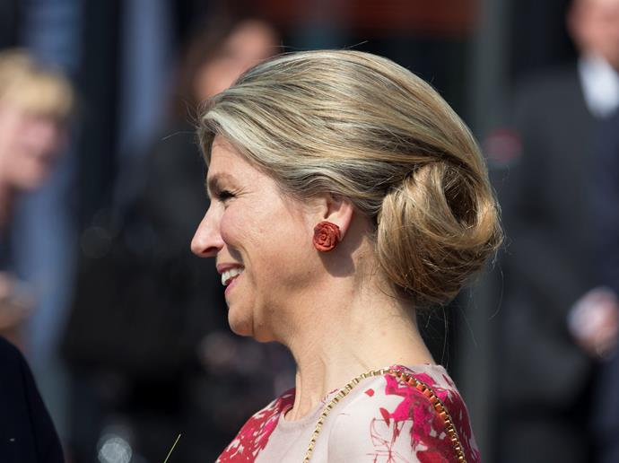 Attending a concert back in 2015, Queen Maxima of The Netherlands' swirled bun continues to mesmerise us.