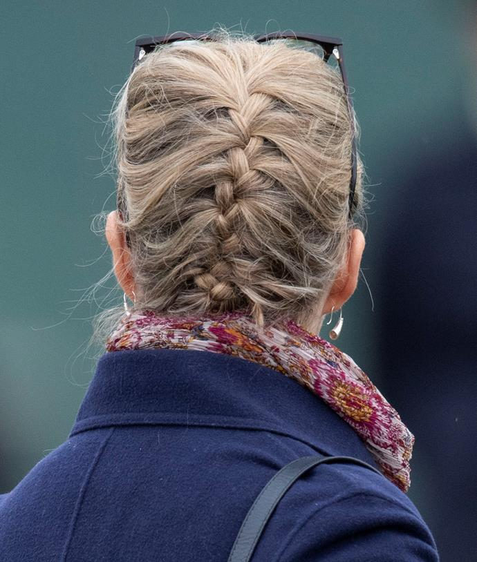 Yep, the French plait is old hat for this trendy royal!