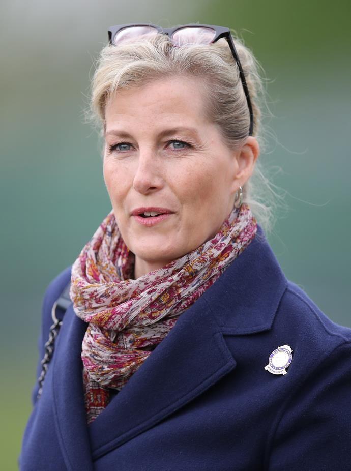 Our unsung royal fashion icon Sophie, Countess of Wessex is also a keen wearer of an up-do. Wait till you see the back of this casual 'do she wore of the Royal Windsor Horse Show...