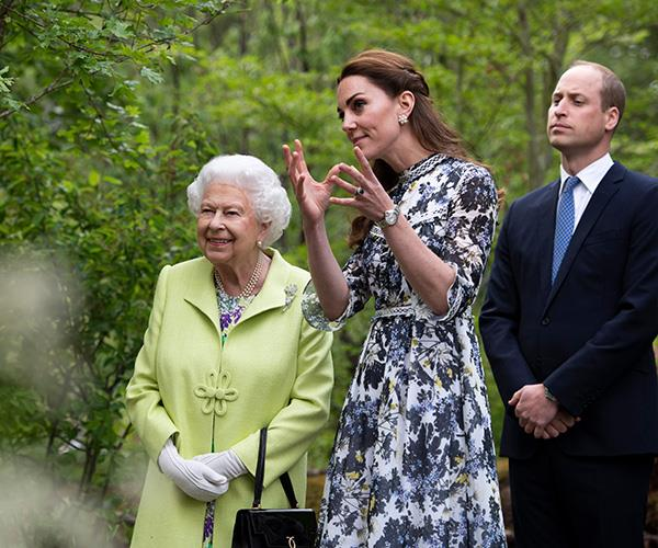 The Queen has been impressed by the Duchess of Cambridge's ability to keep her cool in the face of challenges.
