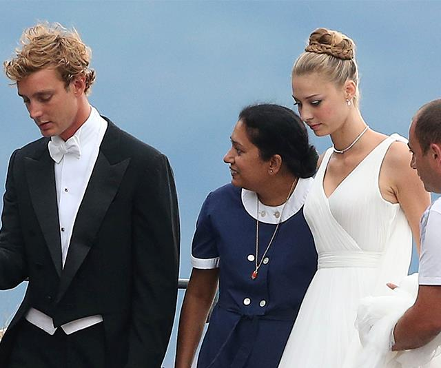 And let's not forget our favourite international royals - Wife of Monaco royal Pierre Casiraghi, Beatrice Borromeo, rocked a stunning wedding day up-do that will forever be remembered in the hairstyle hall of fame.