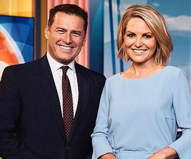 Karl could be back next to Georgie Gardner (pictured)... if he eats humble pie!