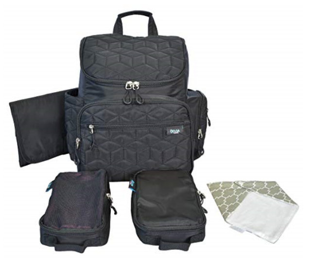 **Terra Baby Larger Capacity Nappy Bag RRP $130.00:** - You can easily organise your supplies and your baby care (like nappies, food, and extra clothing) with 11 pockets, there's one for every parenting need.