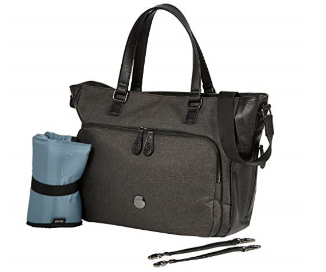 **OiOi Cross Body Utility Tote Bag $127.00:** Super stylish and practical, this bag comes with Oxford lining with water resistant finish, a large padded microfiber change mat, detachable stroller straps and more.