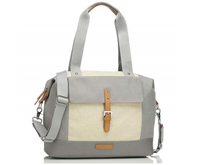 **Storksak Jude Convertible Backpack Nappy Bag RRP $$199.95:** Water-resistant canvas with leather trims and a laminated base with signature Storksak wipe clean linings throughout, this bag is feature-heavy, including a zipped insulated holder and popper wristlet to attach to a stroller.