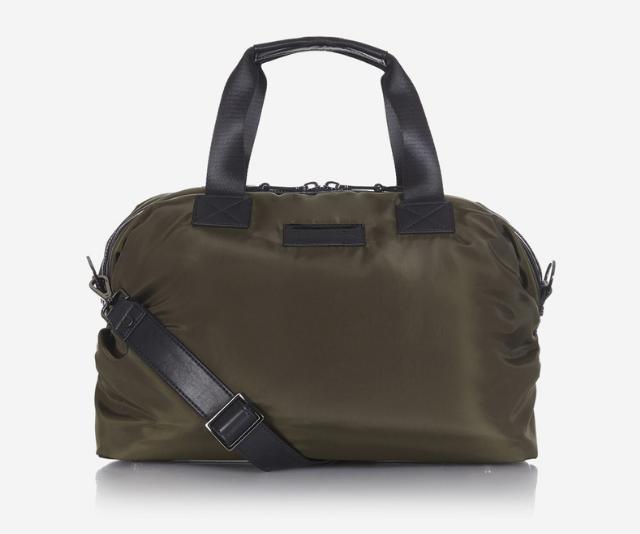 **Raf Holdall RRP $240.00:** The perfect size to fit all your essential items for a day out, it also doubles up as a stylish work bag, hand bag or overnight bag. Featuring an insulated holder, internal zip pocket, internal clips for keys and toys, the water resistant and wipe clean bag, comes with an adjustable strap and removable cross body bag. The Holdall is available in Grey, Snake Print, Black and more.