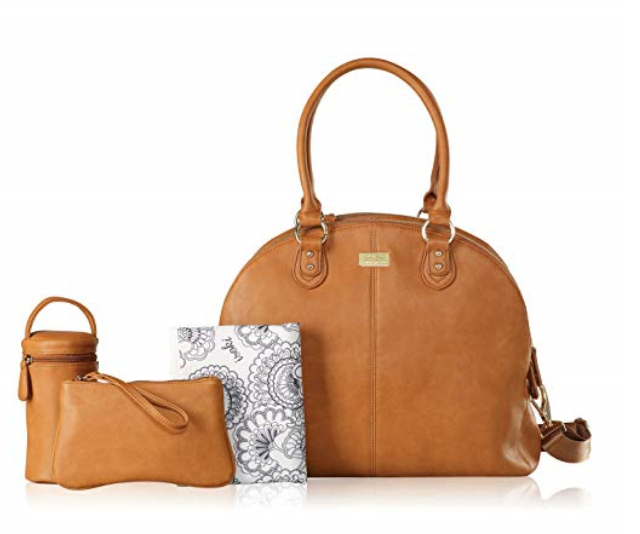 **Isoki Madame Polly Avalon Tan Bag RRP $170.00:** The Madame Polly nappy bag is a popular isoki baby bag that is perfect for mums with twins or older children, or mums who desire a super chic and stylish nappy bag. Three separate inner compartments provide a generous amount of space to keep each child's belongings separate.