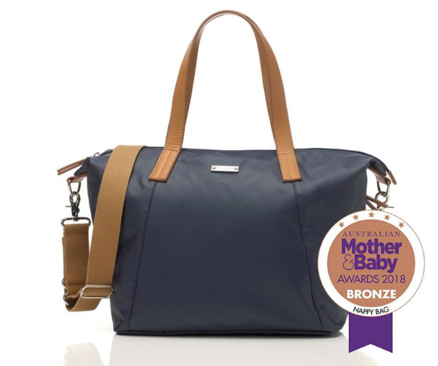 **Storksak 'Noa' nappy bag RRP $149.99:** Made from lightweight coated canvas which is easy to wipe clean. Available in a range of colours, the 'Noa' also includes a matching five-pocket mini organiser.