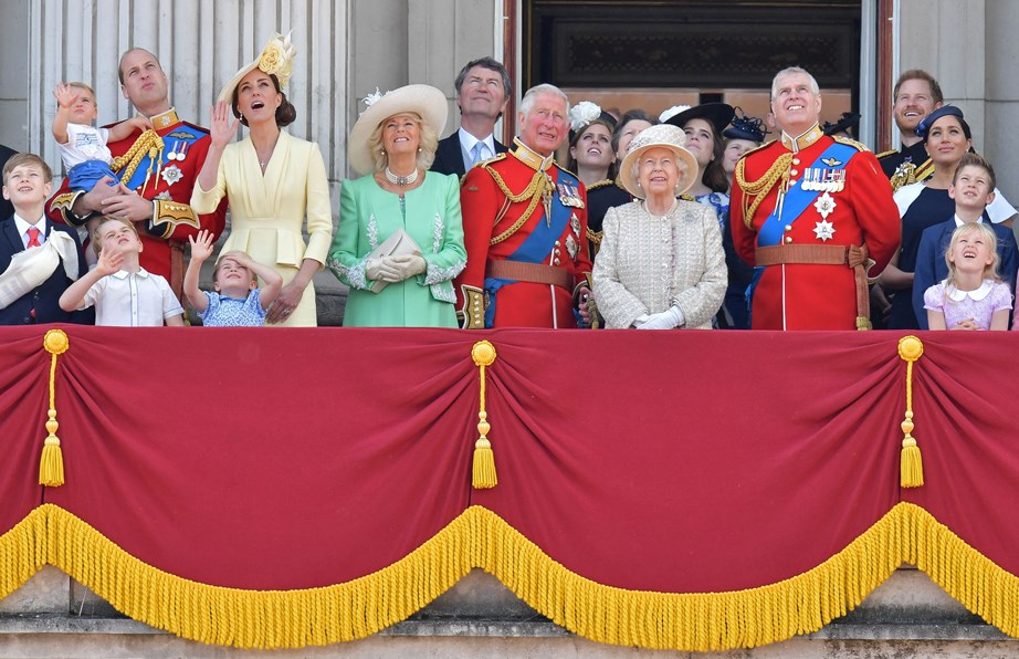 The royals looked delighted to be out celebrating the Queen's birthday. *(Image: Getty)*