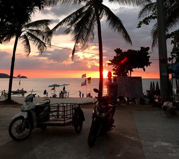Patong Beach, Phuket at sunset.