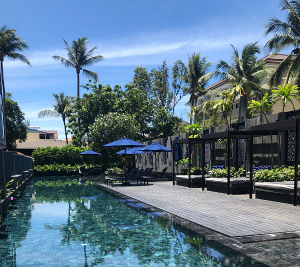 Take me back! One of the stunning swimming pools at Hotel Indigo, Phuket.
