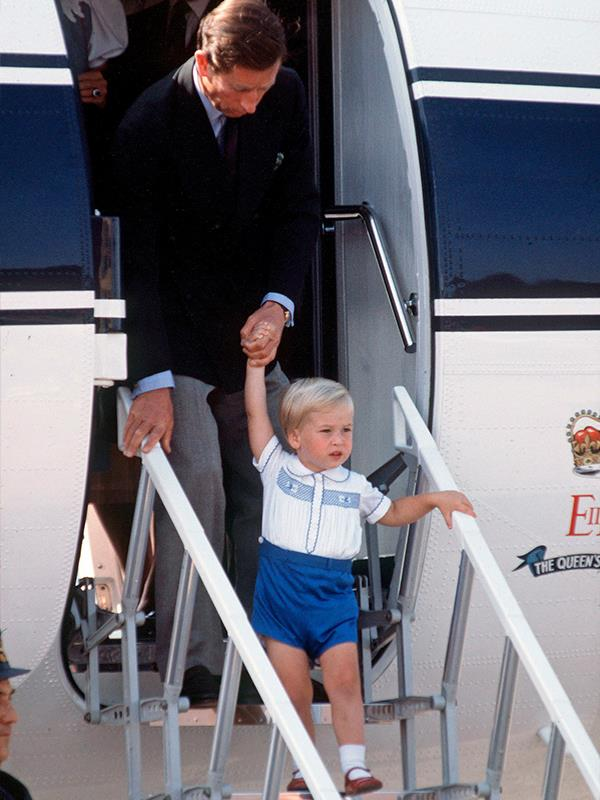 Prince William also wore the same outfit when he was a toddler.