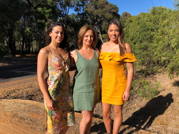 Mikaela and Eliza with their mum.