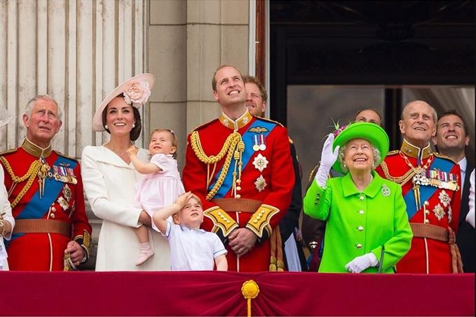 This candid photo from Trooping the Colour in 2016 warms our hearts.