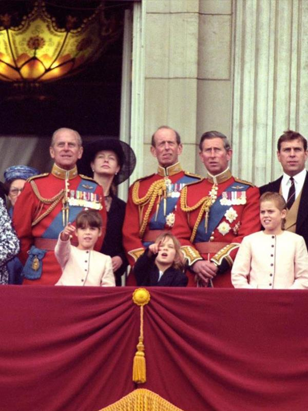 """I found a couple of classic photographs of Grandpa and I on Christmas Day and Trooping the Colour a few years ago now.."" the tenth in line to the throne captioned her snaps."