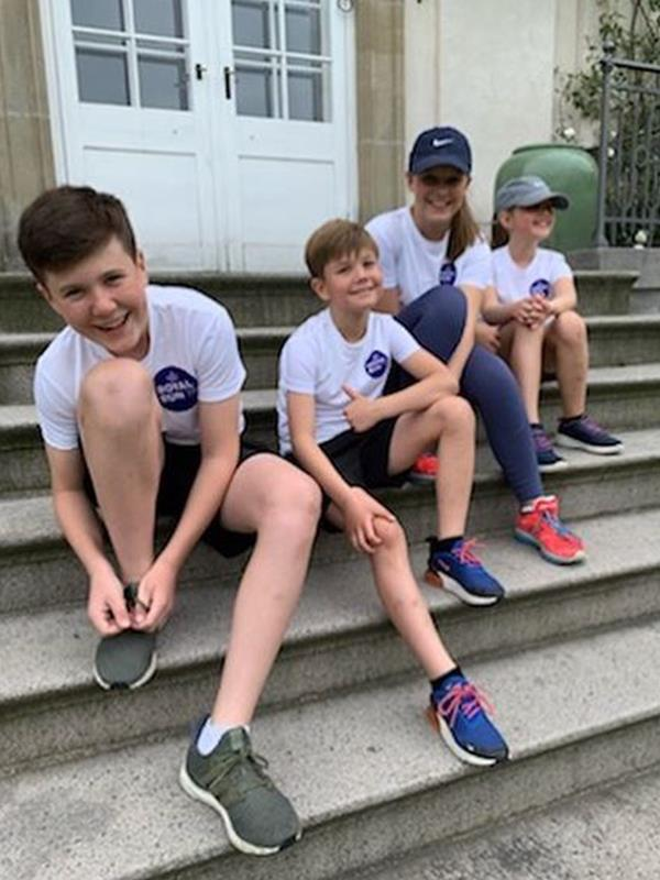 Prince Christian hit a royal milestone with this picture featuring his siblings. It was the 13 year-old's first Instagram message to mark his family's participation in the Royal Run event.