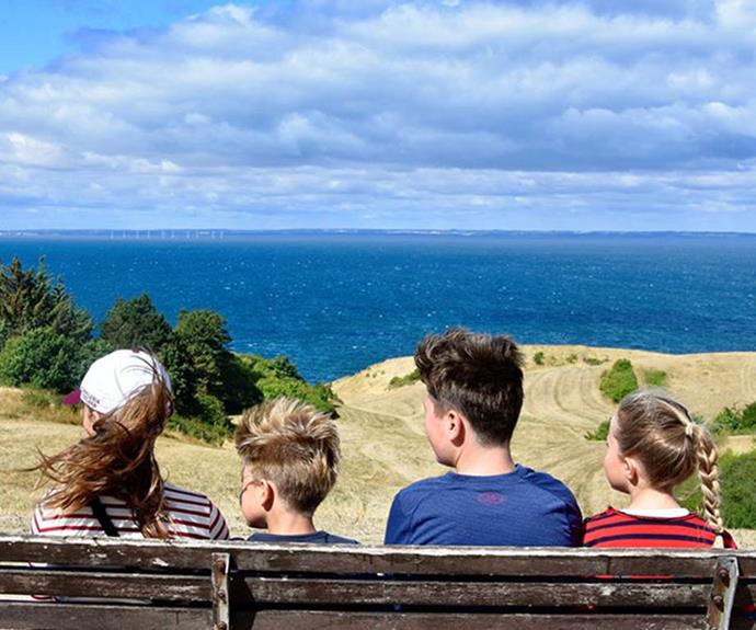 The four children took in the sights on their 2018 summer holiday.