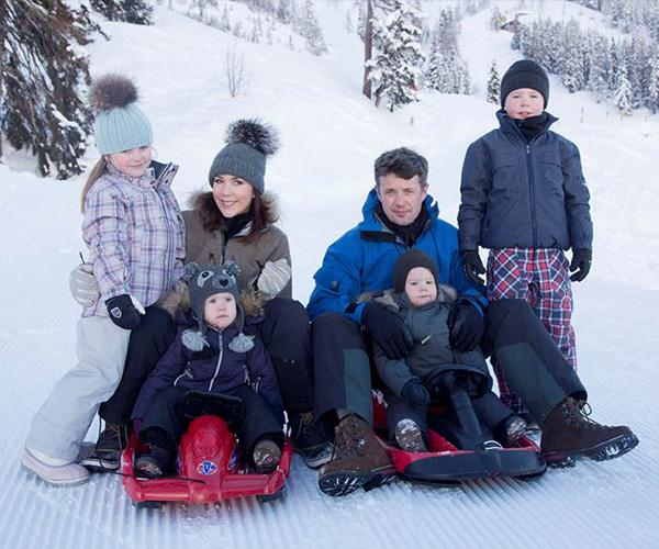 The Danish royals have always loved a holiday on the slopes.