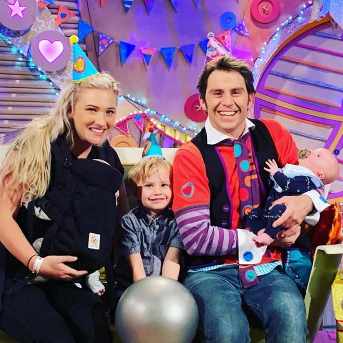 Jimmy, Tori and their three sons Lenny, Vinny and Mack.