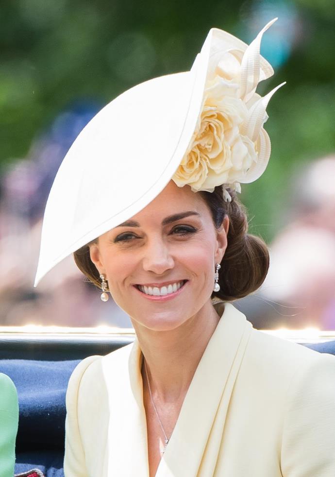 Kate looked stunning in a zesty yellow Alexander McQueen look.