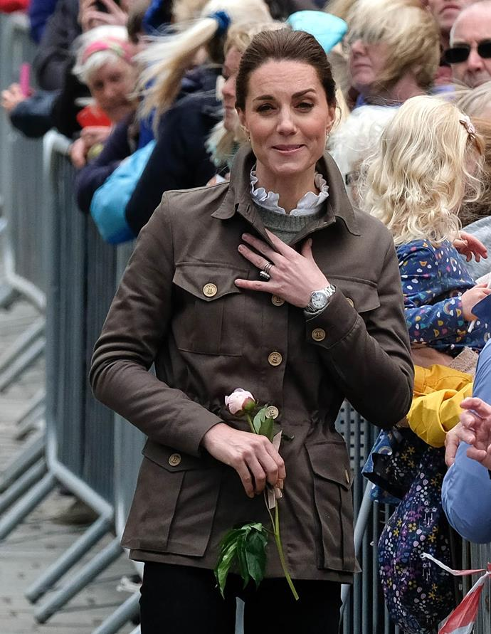 Kate's look was all kinds of casual-chic.