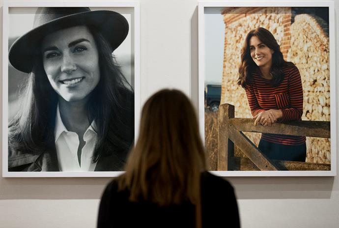 Duchess Catherine's *Vogue* photos were displayed at the *Vogue* 100: A Century of Style exhibition at London's National Portrait Gallery of which Kate is patron.