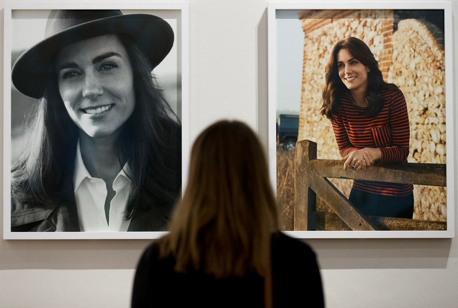 Duchess Catherine's Vogue photos were displayed at the Vogue 100: A Century of Style exhibition at London's National Portrait Gallery of which Kate is patron. *(Image: Getty)*